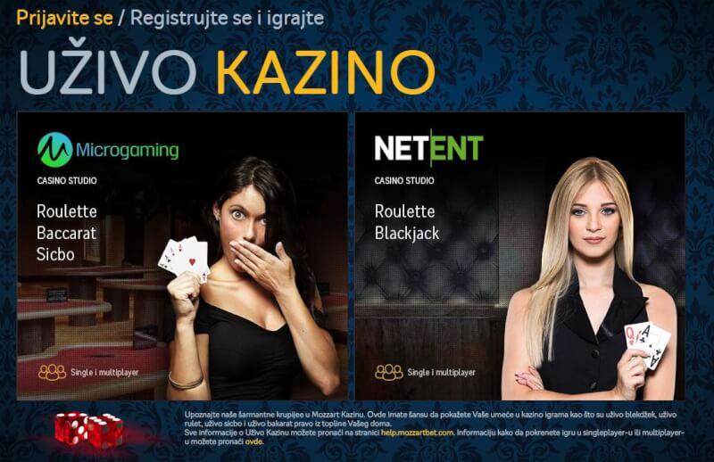 Mozzart kazino uzivo softver
