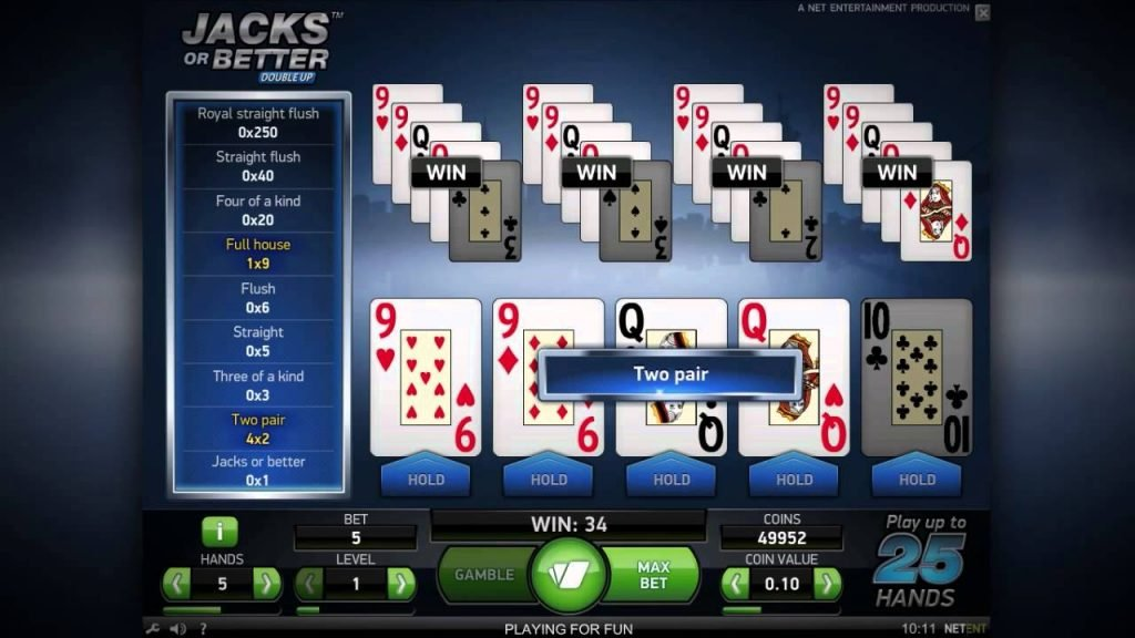 Jacks or Better - Video poker onlajn
