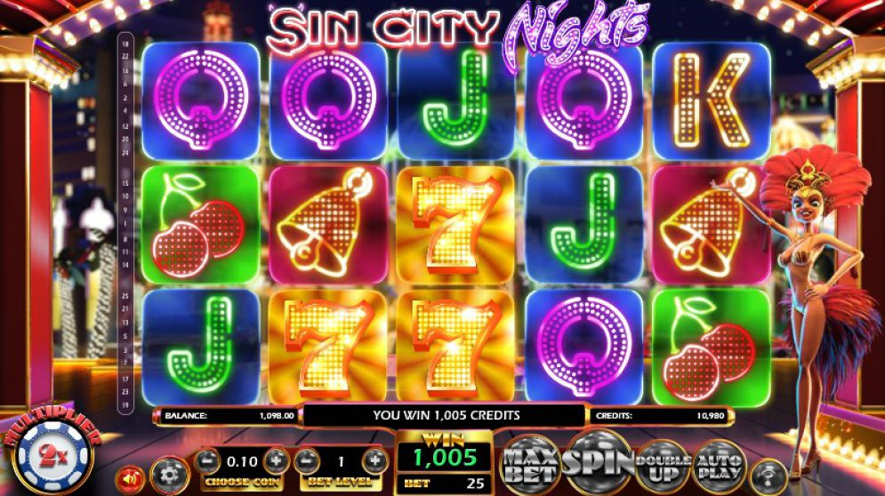 Sin City Nights grafički interfejs igre
