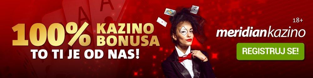 meridian bonus ponuda 100% kazino bonus