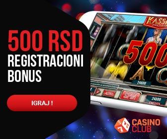 bonus bez depozit, casinoclub, 500 rsd registracioni bonus