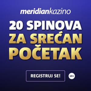 20 besplatnih spinova od meridian kazino