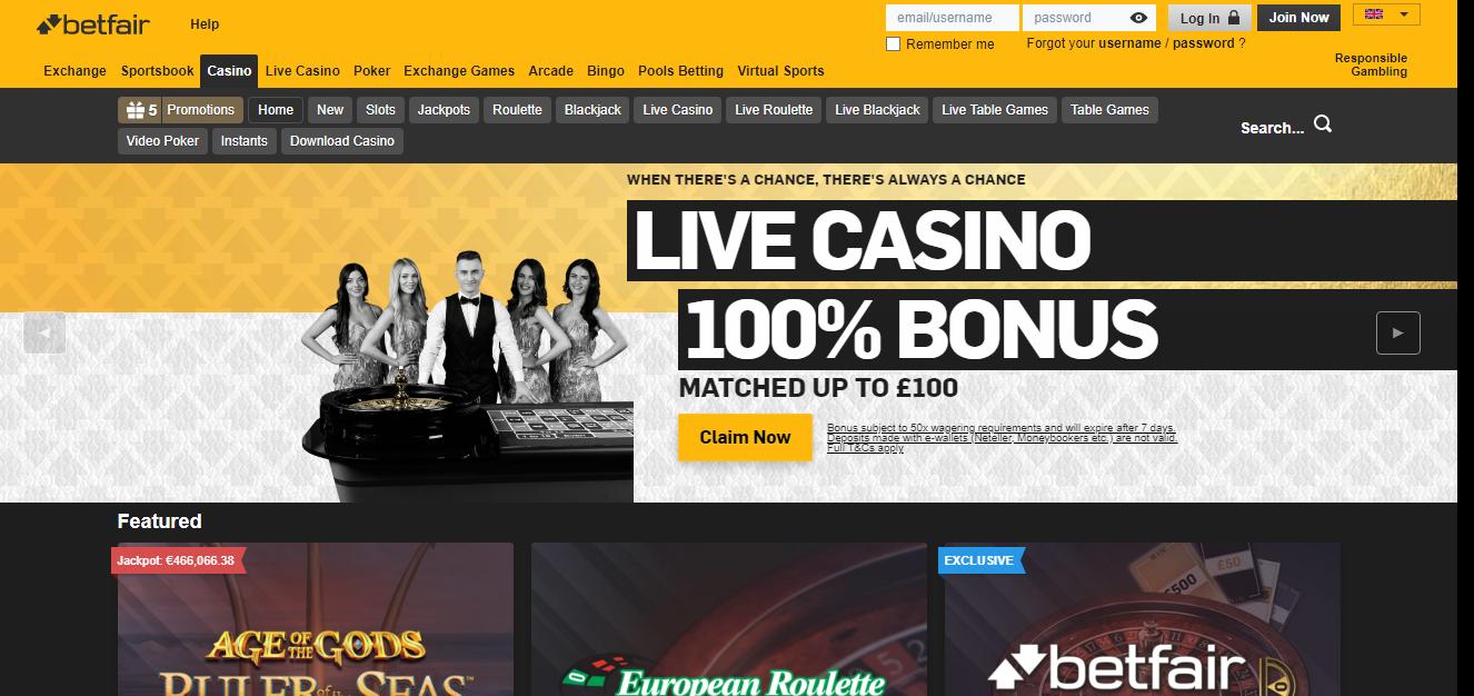 Betfair kazino