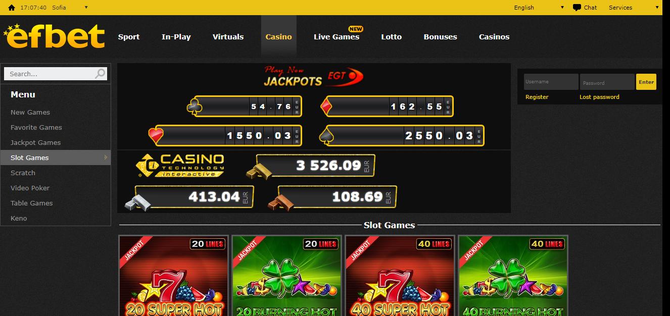 Efbet kazino