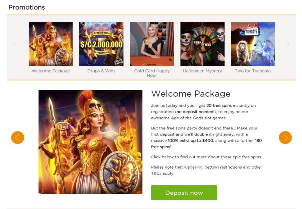 Casino.com bonus dobrodošlice